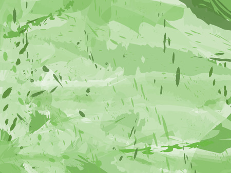 Grungy green ink background with paint splatters and spots