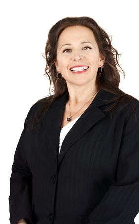 Vertical portrait of smiling professional woman