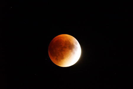 lunar eclipse: Total lunar eclipse and supermoon on the same night Stock Photo