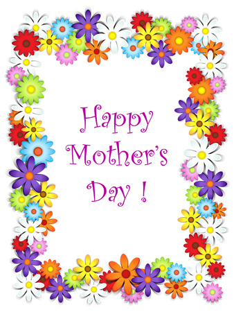 Flower frame happy mother's day card