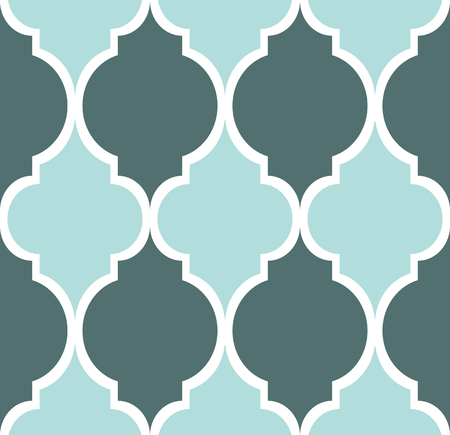 grey rug: Seamless modern pattern in blue green grey and white Illustration