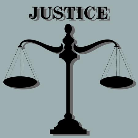 Balance of justice symbol