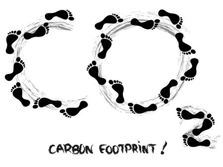 health threat: Carbon footprint symbol