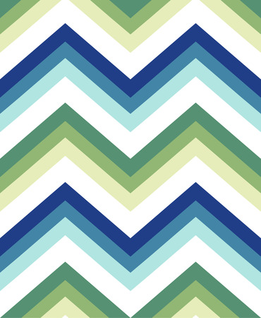 Seamless chevron pattern in blue and green