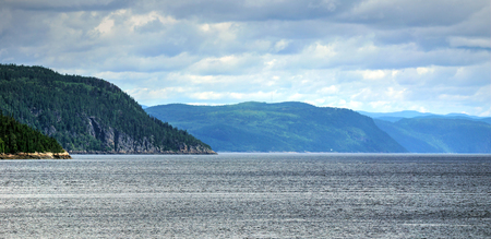Panorama of the Saguenay fjord, Quebec
