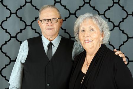 Happy senior couple all dressed up 免版税图像