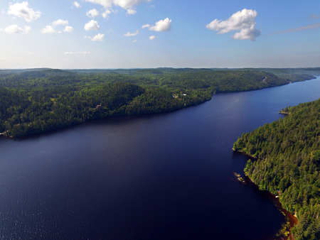Aerial view of the Saguenay river in Quebec Stock fotó