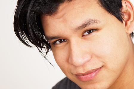 Closeup of young hispanic man looking at camera Stock fotó - 97515867