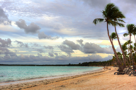 Beautiful tropical beach, Dominican Republic