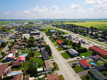 Aerial view of North American small rural town Stock fotó - 105812869