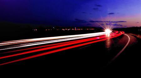 trailblazer: Two-way Traffic - Vehicle Light Trails at Dusk