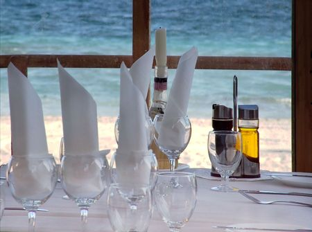 Beach Side Restaurant Table Set