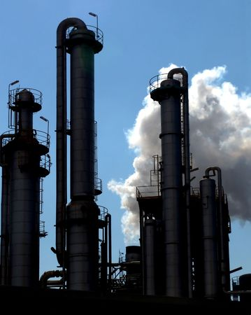 Industrial Towers & Steam Cloud Stock Photo - 5656893