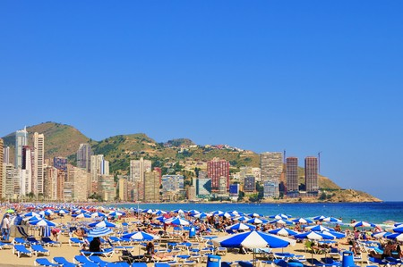 Beach and Apartments, Benidorm, Costa Blanca, Spain