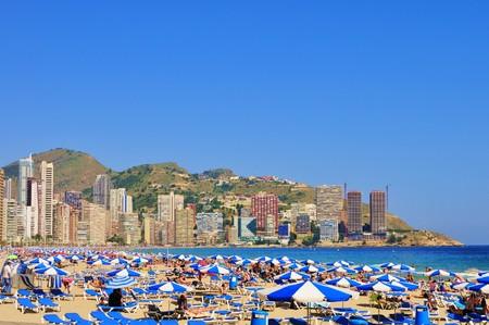 costa blanca: Beach and Apartments, Benidorm, Costa Blanca, Spain