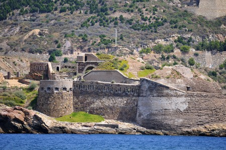 Old coastal fortifications,  Cartagena, Spain
