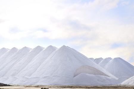 tonnes: Piles of Salt Stock Photo