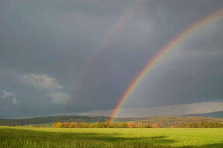 Rainbow Field Archivio Fotografico