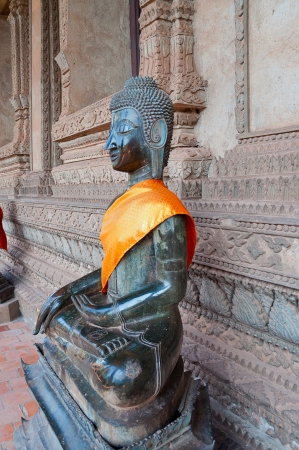 Buddha at Hor Phakao  Haw Pha Kaew  in Vientiane  Laos  photo