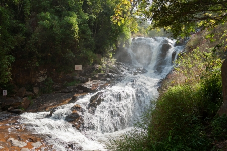 Datanla Waterfall. Dalat. Vietnam. Datanla Waterfall is one of the more easily accessed falls in the vicinity of Dalat. 5km south of the city. photo