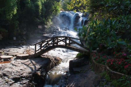 accessed: Datanla Waterfall. Dalat. Vietnam. Datanla Waterfall is one of the more easily accessed falls in the vicinity of Dalat. 5km south of the city.