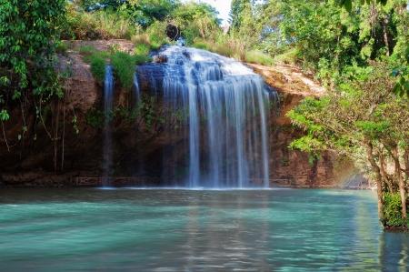 retained: Prenn Cascada. Da lat. Vietnam. Prenn es una de las cascadas conservado la virgen de las monta�as de las Tierras Altas. 10 km al sur de la ciudad. Foto de archivo