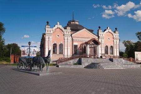 トボリスク, ロシア連邦 - 7 月 7 日: トボリスク省博物館。2013 年 7 月 7 日、トボリスク、ロシアのシベリアで最も古い美術館の 1 つ。トボリスクは、 報道画像