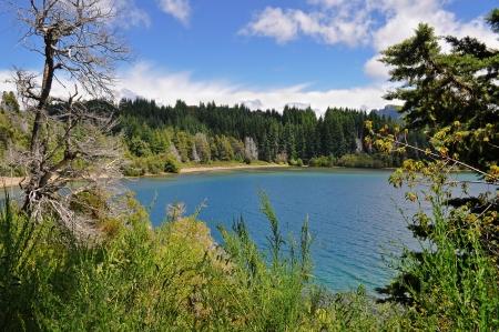 lake nahuel huapi: View from Victoria Island on Lake Nahuel Huapi  San Carlos de Bariloche  Argentina