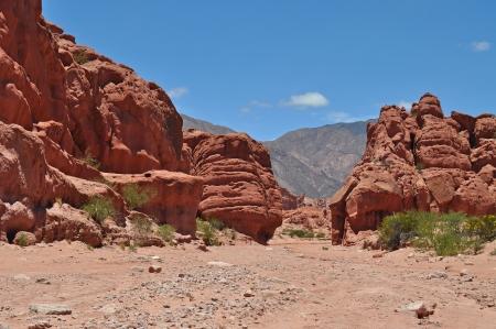 Rock formation on Quebrada de las Conchas  Cafayate  Salta Province  Argentina Imagens