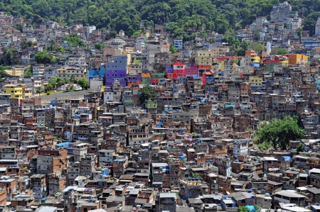 shantytown: Brazilian favela  in Rio de Janeiro  shantytown