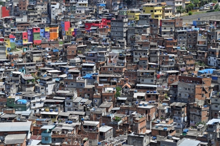 slum: Favela Rocinha  Rio De Janeiro  Brazil  Stock Photo