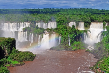 waterfall in forest: Iguassu Falls on Argentina side from Brazil