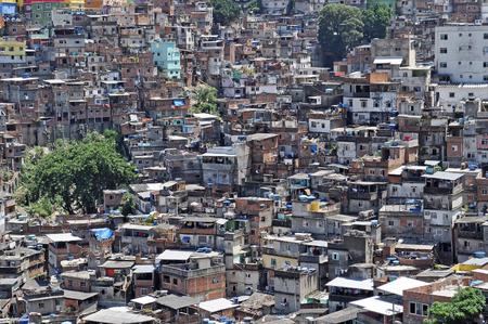 Brazilian favela  in Rio de Janeiro  shantytown