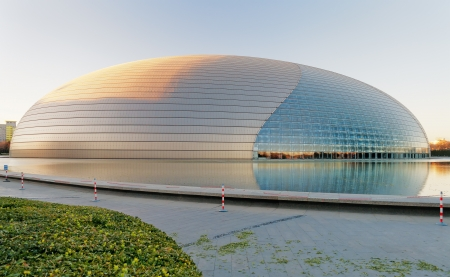 BEIJING, CHINA - DEC 5  National Centre for the Performing Arts winter morning on Dec 5, 2013  Construction started in December 2001 and the inaugural concert was held in December 2007