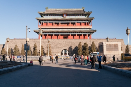 gatehouse: BEIJING, CHINA - DEC 5  The Zhengyangmen Gatehouse  Qianmen  on Dec 5, 2013  It