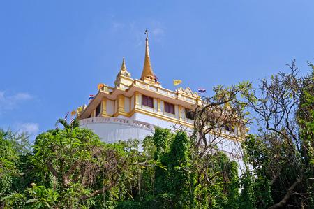 Phu Khao Thong (Golden mountain) and Wat Saket  in Bangkok. Thailand photo