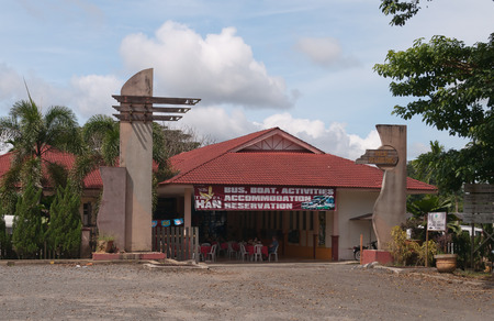 KUALA TEMBELING, MALAYSIA - DEC 12, 2013: Tourist Office. It is a town in Pahang close to the Taman Negara National Park, Malaysia. The town serves as a transfer point to the national park