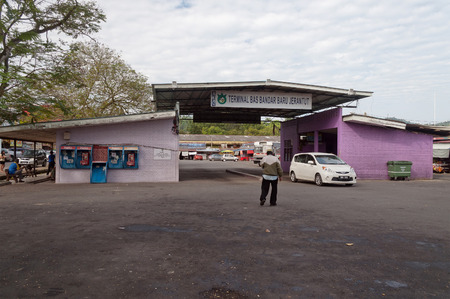JERANTUT, MALAYSIA - DEC 18, 2013: Terminal bus station. Jerantut is a major town in central Pahang.  The town is a popular starting point for excursions into Taman Negara National Park.