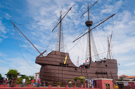 MALACCA, MALAYSIA - DEC 19, 2013: Samudera Maritime Museum. Malacca City is the capital city of the Malaysian state of Malacca. It was listed as a UNESCO World Heritage Site on 7 July 2008 Editorial