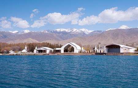 Architectural complex on bank of Issyk-Kul Lake. Cholpon-Ata. Kyrgyzstan Editöryel