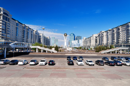 astana:   View of Astana modern city.