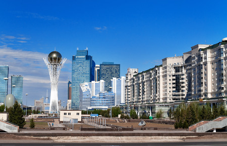 View of Astana modern city. Astana is the capital city of Kazakhstan on 10 December 1997.  Population of 835153 Imagens