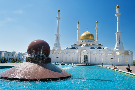 Nur-Astana Mosque in Astana.  It is the second largest mosque in Kazakhstan