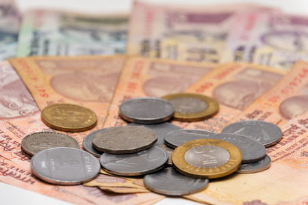 indian currency: Indian Currency different Rupee bank notes and coins background