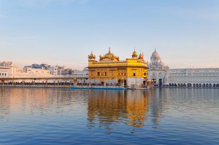 Golden Temple (Harmandir Sahib also Darbar Sahib) in the early morning. Amritsar. Punjab. India Stock Photo