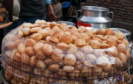 marathi: Puri for Panipuri or Gol gappa, Marathi, Gujarati s a popular street snack in India