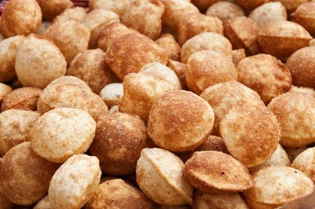 Puri for Panipuri or Gol gappa, Marathi, Gujarati s a popular street snack in India photo