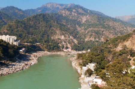 ganges: View of River Ganges in Laxman Jhula