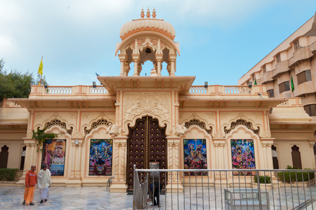 krishna: VRINDAVAN, INDIA - DEC 15, 2014:  Sri Krishna-Balaram Temple. Vrindavan is considered to be a holy place. The major tradition followed in the area is Vaisnavism. It is the place where Krishna spent his childhood days. Editorial