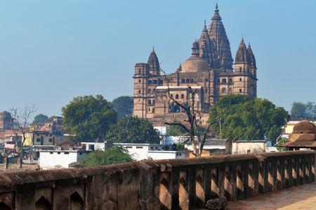 madhya: Chaturbhuj Temple at morning. Orchha. Madhya Pradesh. India. Shallow DOF